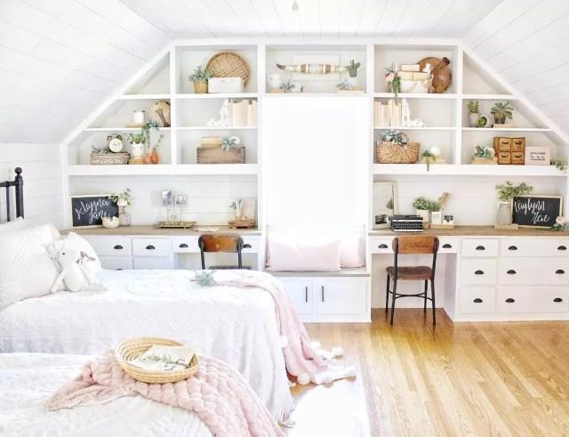Built-in Shelves in Bedroom. Photo by Instagram user @c.b._designs