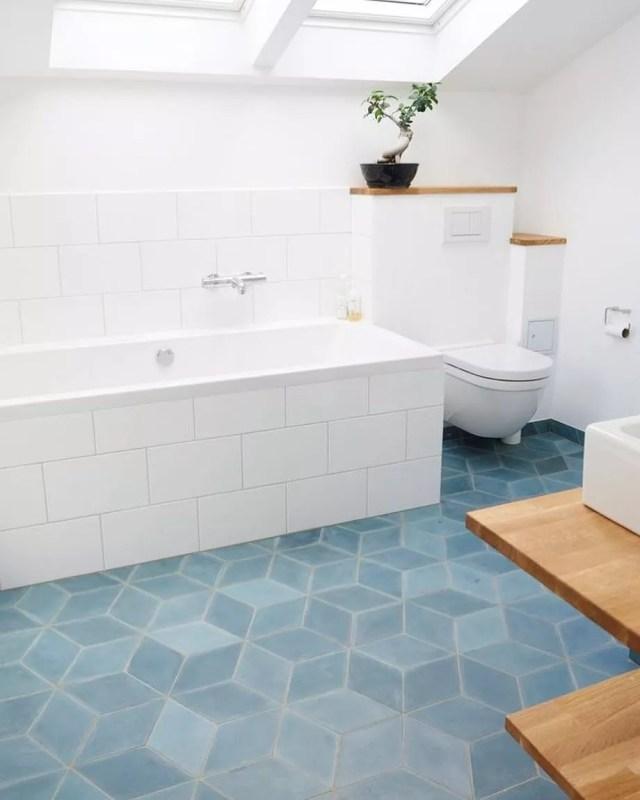 Heated Floors in Master Bathroom. Photo by Instagram user @warmyourfloor