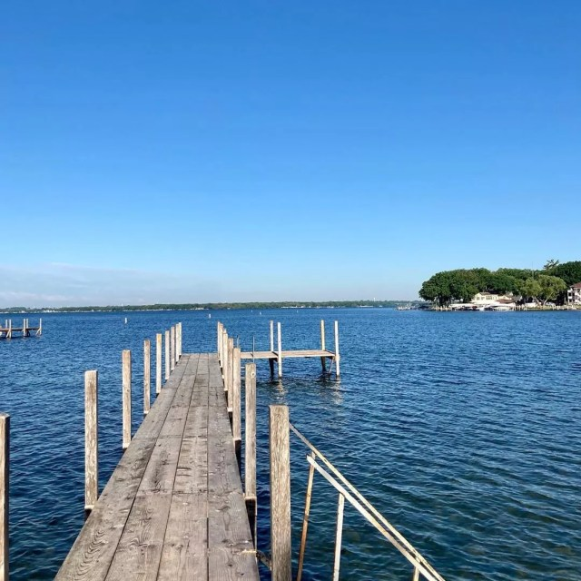 Dock off West Lake Okoboji. Photo by Instagram user @optimumwellnessllc