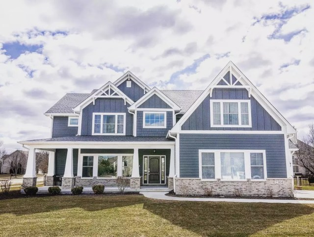 Mountain Craftsman-style house in Naperville, IL. Photo by Instagram user @djk_homes