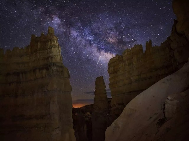 Spires Underneath the Stars at Night at Bryce Canyon National Park. Photo by Instagram user @edubs3191