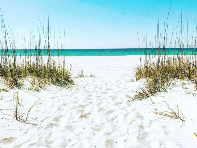 Sunny Day on the White Sand Beach at Pensacola Florida. Photo by Instagram user @rebelflicks