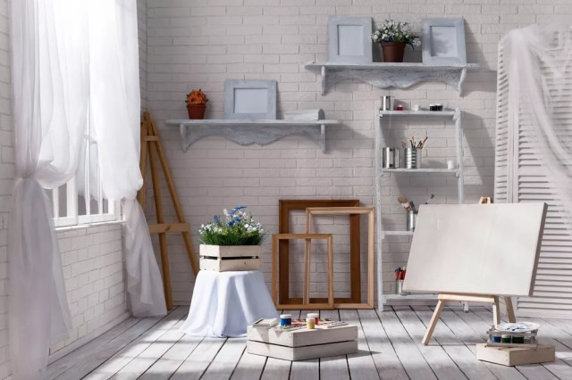 Bright home art studio