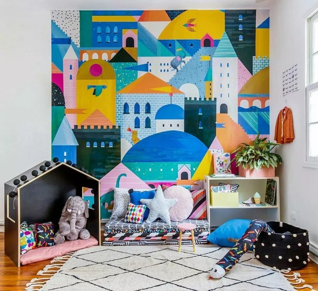 Colorful Kids Room Design: 21 Fun Kids Playroom Ideas & Design Tips