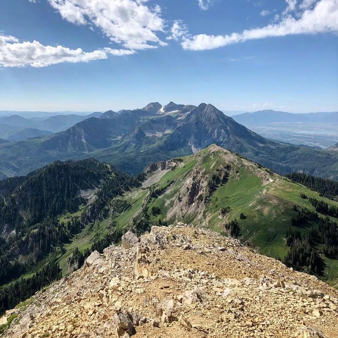 View from the top of Box Elder Peak. Photo by Instagram user @adventurealldays