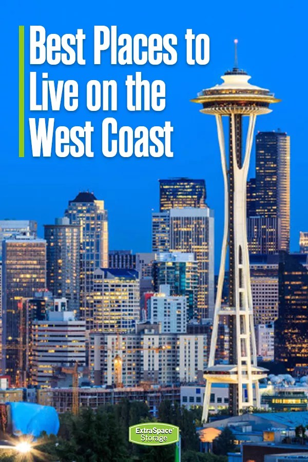 Pinterest Graphic: Best Places to Live on the West Coast