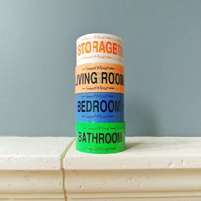 Rolls of Different Colored Tape for Different Rooms. Photo by Instagram user @fioribelle