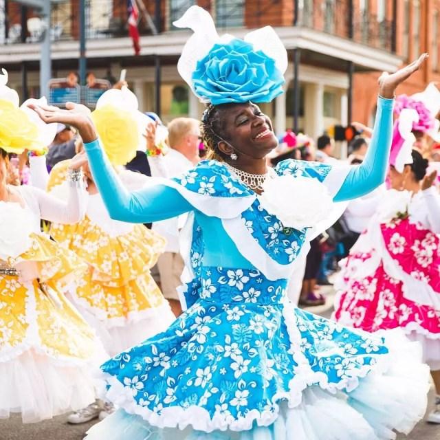 Woman dancing during Fiesta San Antonio. Photo by Instagram user @fiestasa