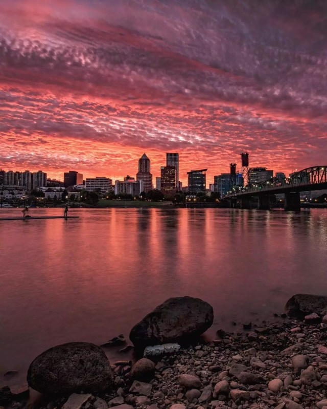Portland, OR skyline. Photo by Instagram user @gemini_digitized