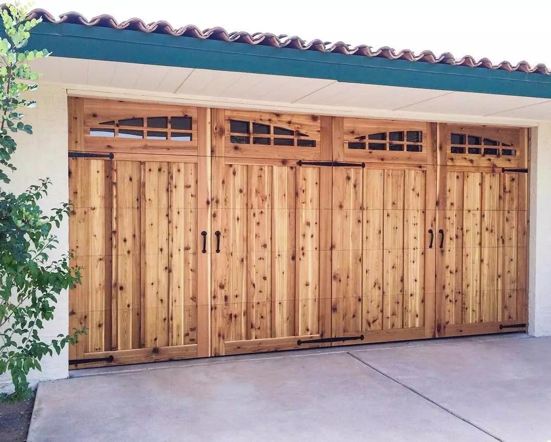 Wooden garage door. Photo by Instagram user @door_48