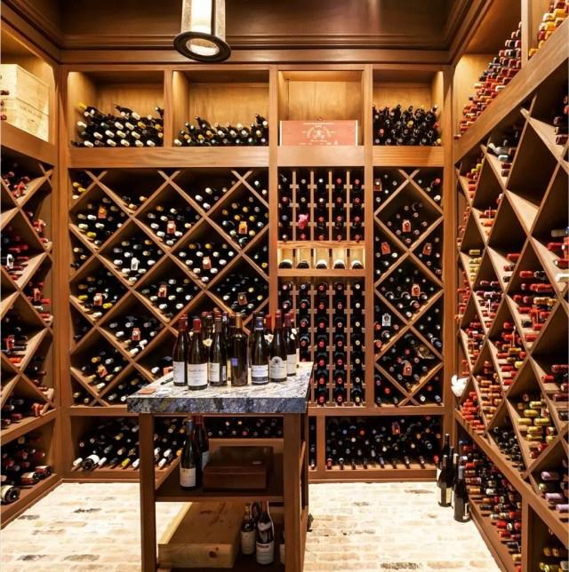 Expansive Wine Cellar in Home Basement. Photo by Instagram user @winfreydesignbuild