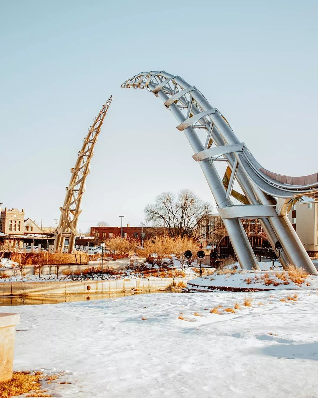 Arc of Dreams in Sioux Falls, SD photo by Instagram user @meditatetoelavate