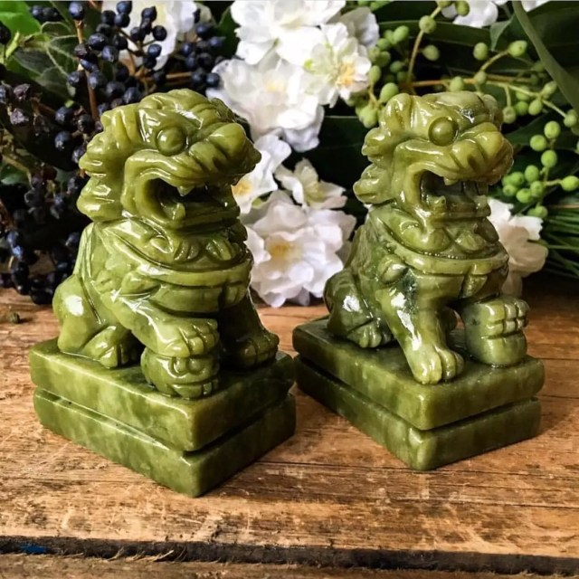 Jade foo dogs. Photo by Instagram user @pacificminerals