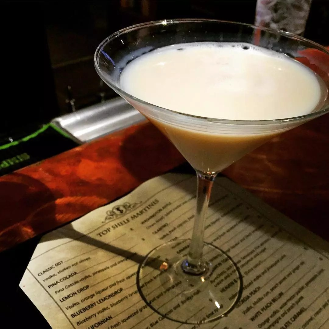 Cinnamon Toast Martini from Top Shelf Martinis on Main. Photo by Instagram user @grublikeaboss