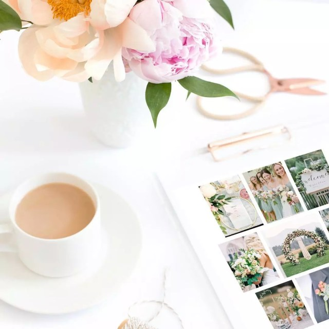 Inspiration Board with Photos for Wedding Plans. Photo by Instagram user @alwaysflawlessproductions