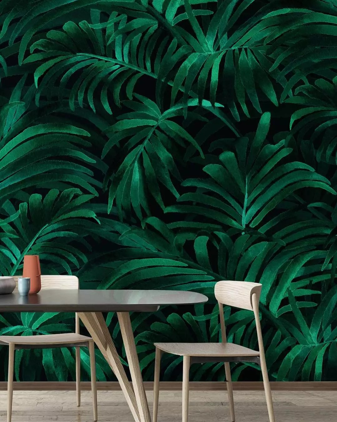 Palm plethora wallpaper. Photo by Instagram user @dalwindesigns
