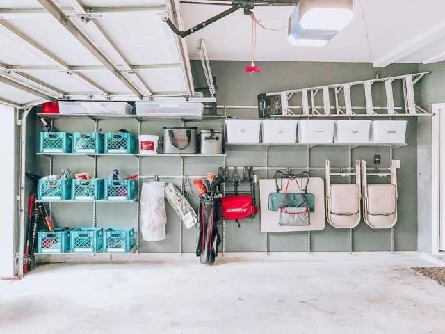 Organized garage. Photo by Instagram user @organizedlifedesign