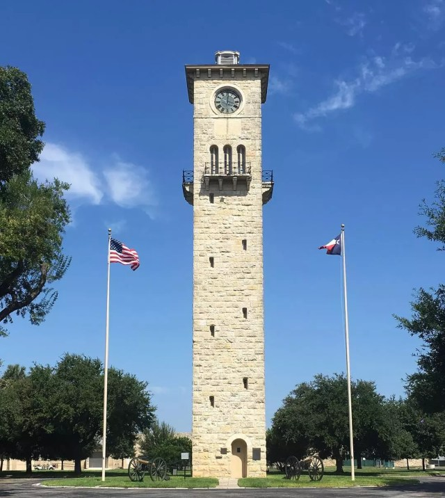 Tower in Fort Sam Houston Army Base. Photo by Instagram user @_dkerr