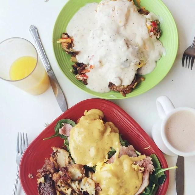 Plates full of breakfast. Photo by Instagram user @rach_lmao