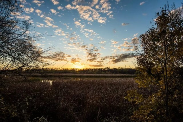 Sunset over field. Photo by Instagram user @visitokc