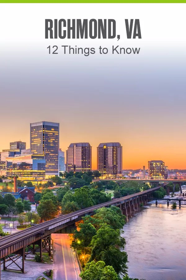Pinterest Graphic: Richmond, VA: 12 Things You Should Know
