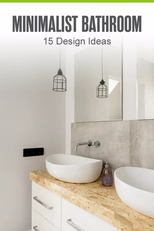 Pinterest Graphic: Minimalist Bathroom: 15 Design Ideas