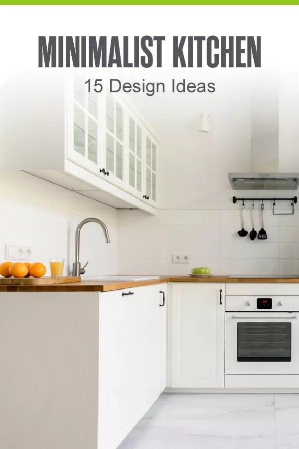 Pinterest Graphic: Minimalist Kitchen: 15 Design Ideas