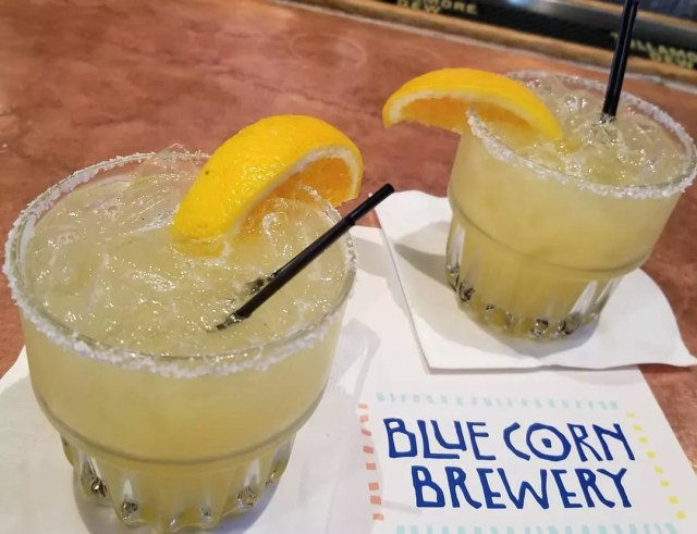 two margaritas at the blue corn brewery photo by Instagram user @xeg1521