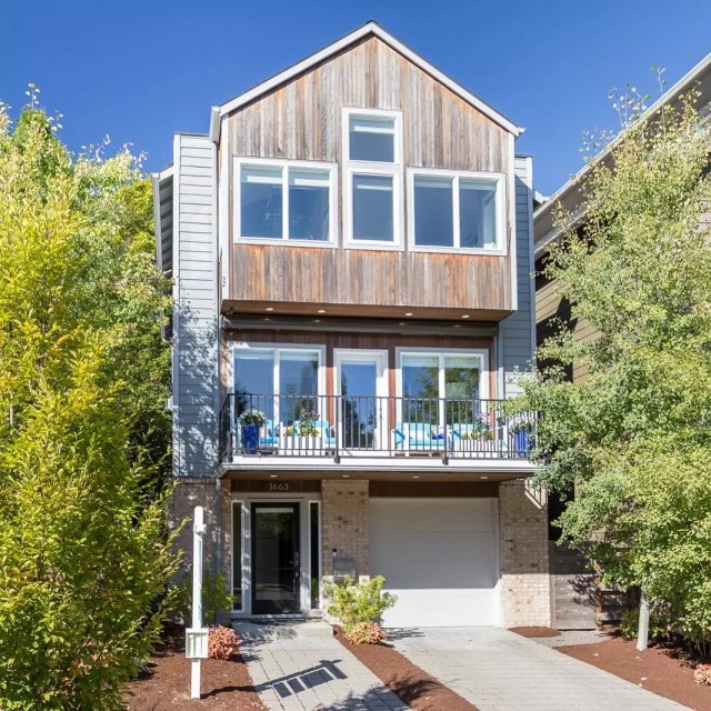 modern home design in Sellwood-Moreland, Portland, OR photo by Instagram user @brightspacepdx