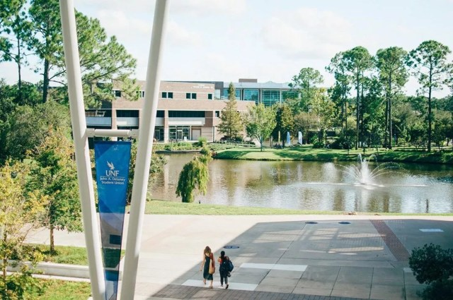 campus photo from the University of North Florida photo by Instagram user @uofnorthflorida