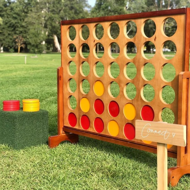 Large Backyard Connect Four Board. Photo by Instagram user @spoggies_nest