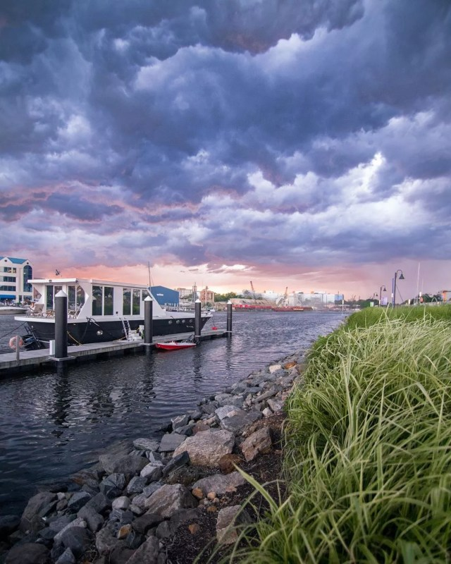 Harbor Point with Storms Rolling in in Stamford, CT. Photo by Instagram user @katerac