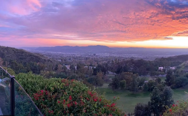 View of Burbank, CA from Castaway Restaurant. Photo by Instagram user @chazrainey