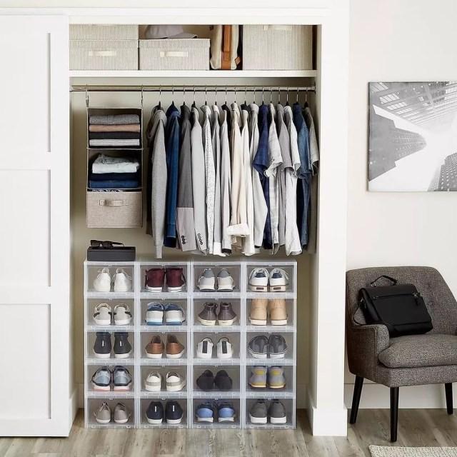Decluttered Closet in Minimalist Bedroom. Photo by Instagram user @decluttrme