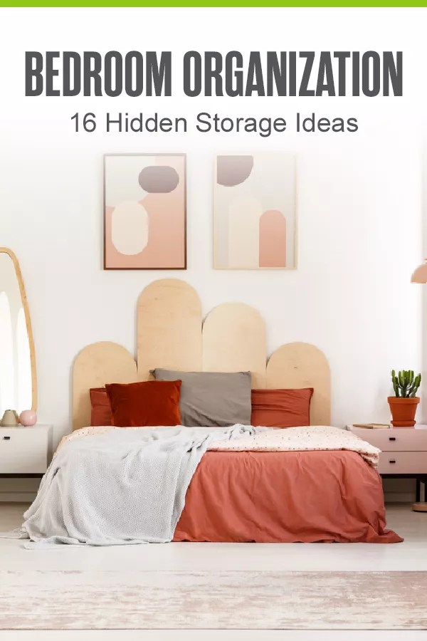 Pinterest Image: Bedroom Storage: 16 Hidden Storage Ideas
