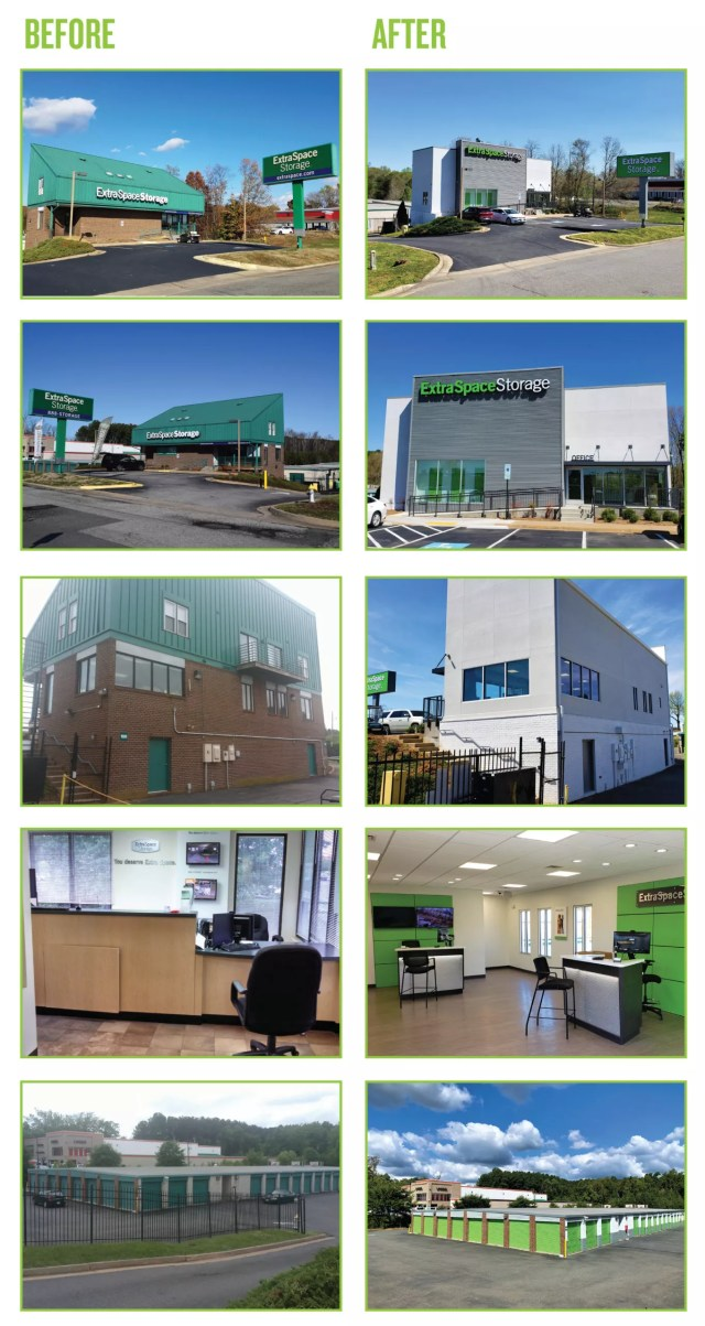 Collage of Fredricksburg Extra Space Storage Facility Expansion Project