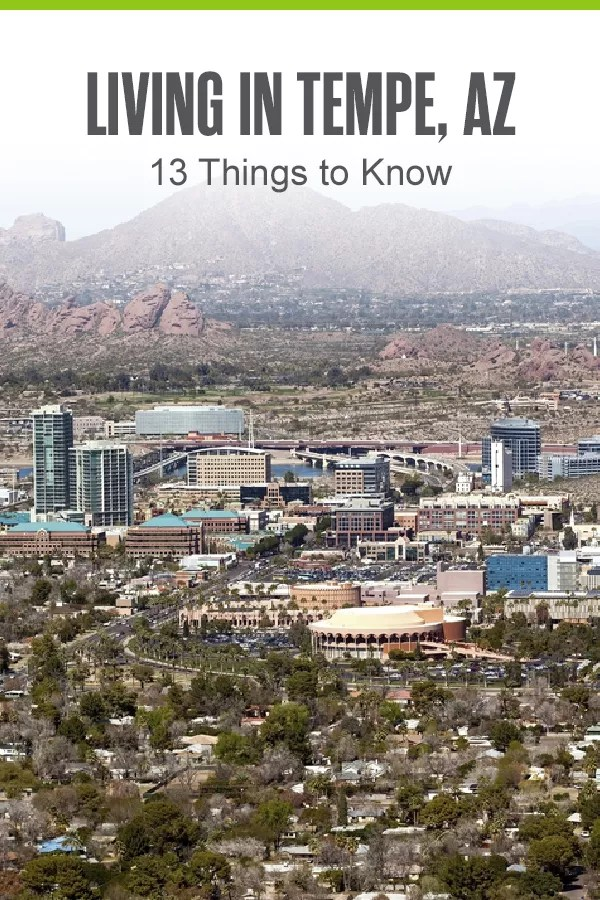 Pinterest Graphic: Living in Tempe, AZ: 13 Things to Know