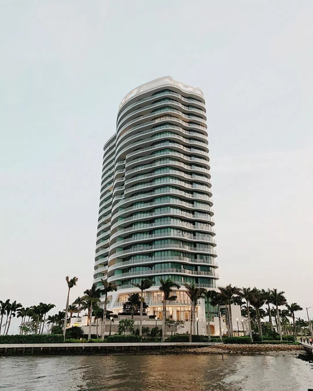 High Rise Modern Apartment Building in Downtown West Palm Beach. Photo by Instagram user @modernlivingre