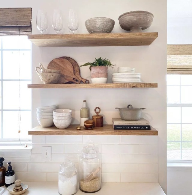Open Shelving in the Kitchen. Photo by Instagram user @theeveryhome