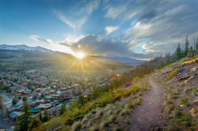 View of Downtown Breckenridge, CO from a Hillside. Photo by Instagram user @gobreck