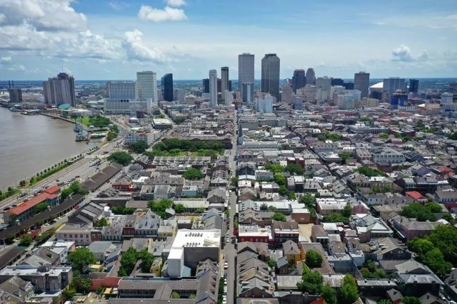 Aerial View of Downtown New Orleans, LA. Photo by Instagram user @nowyourcity