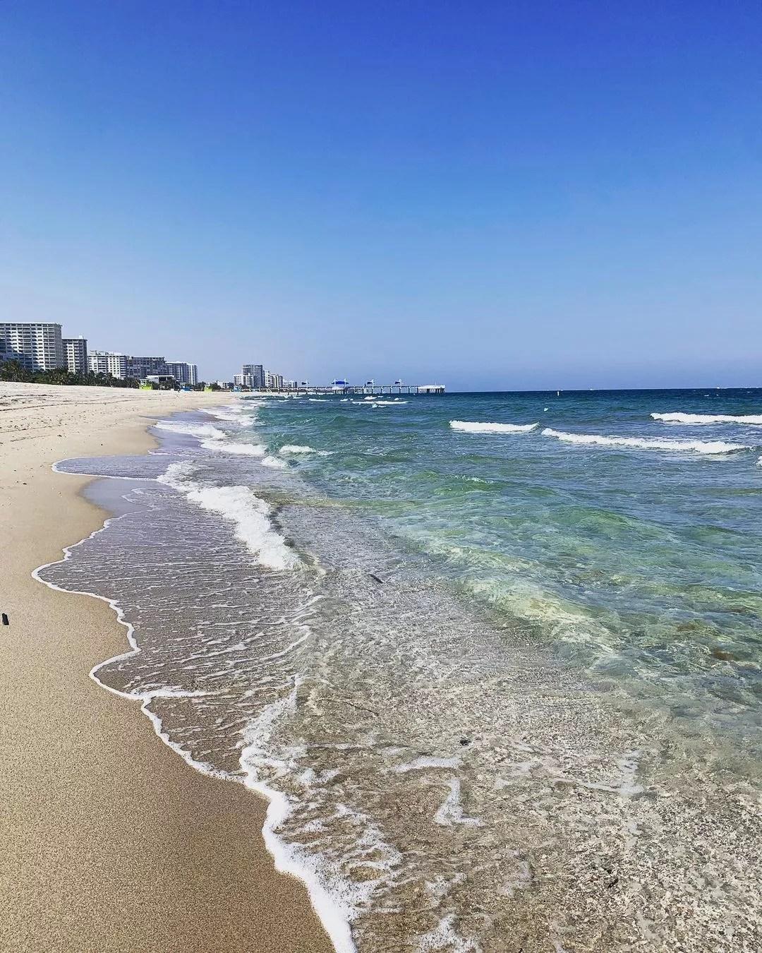Beach Front View in Pompano Beach, FL. Photo by Instagram user @pompanobeachreport