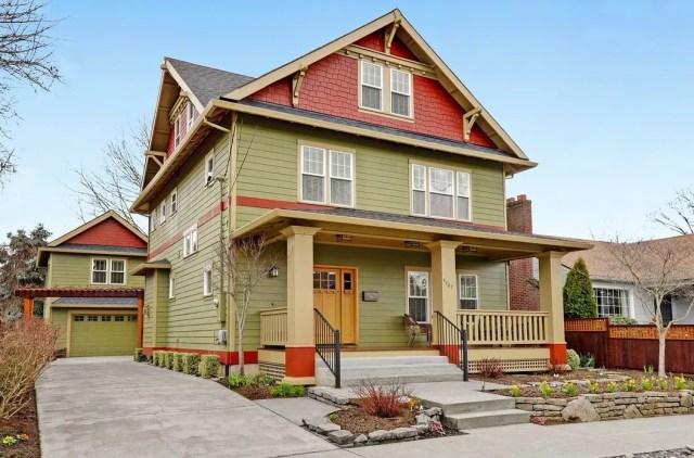 Three Story Craftsman Style Home in King, Portland. Photo by Instagram user @windermererealtytrust