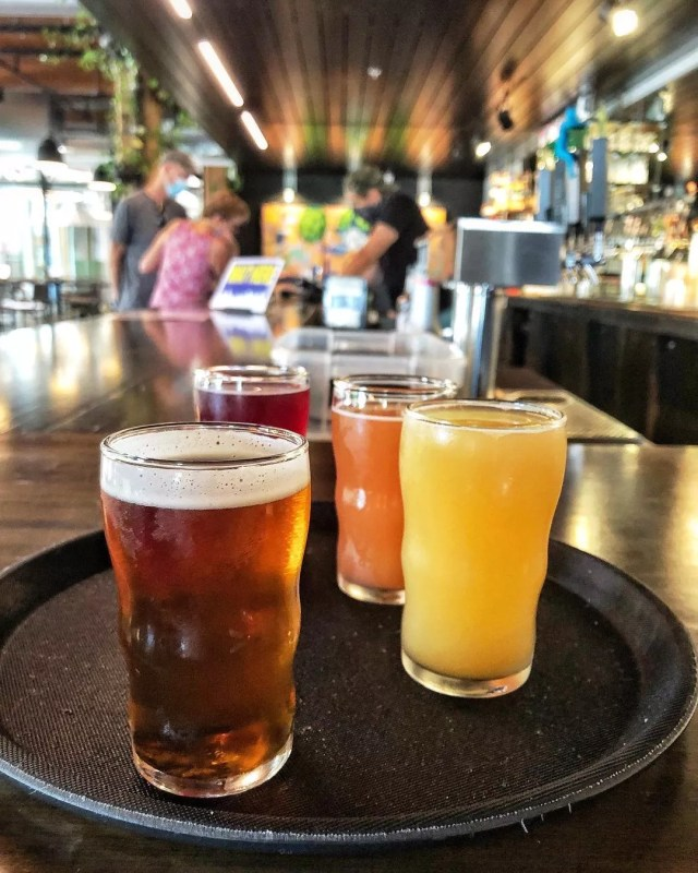 Variety of beers from City Built Brewing Company. Photo by Instagram user @citybuilt