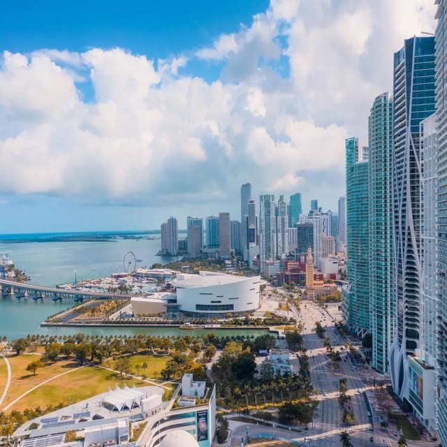 View of Downtown Miami from Drone. Photo by Instagram user @visuals.by.luis