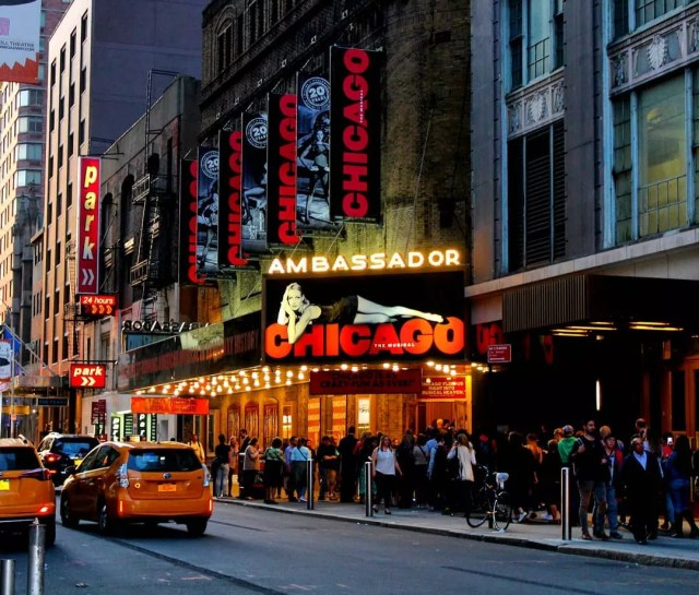 Outside of the Ambassador Theater on Broadway in NYC. Photo by Instagram user @@margarette_travelling