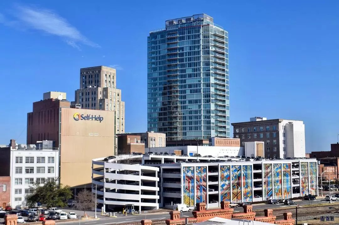 Skyline of Downtown Durham, NC During the Day. Photo by Instagram user @wralsarah