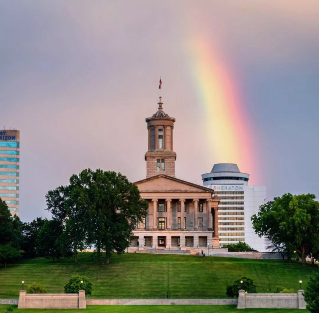 The Tennessee State Capitol Building in Nashville, TN. Photo by Instagram User @andrewnotar