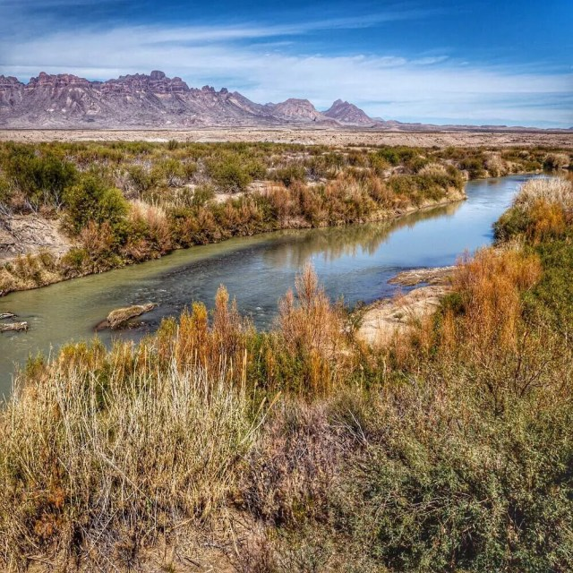 Shot of a river running through Big Bend National Park in Texas. Photo by Instagram user @bigbendnps