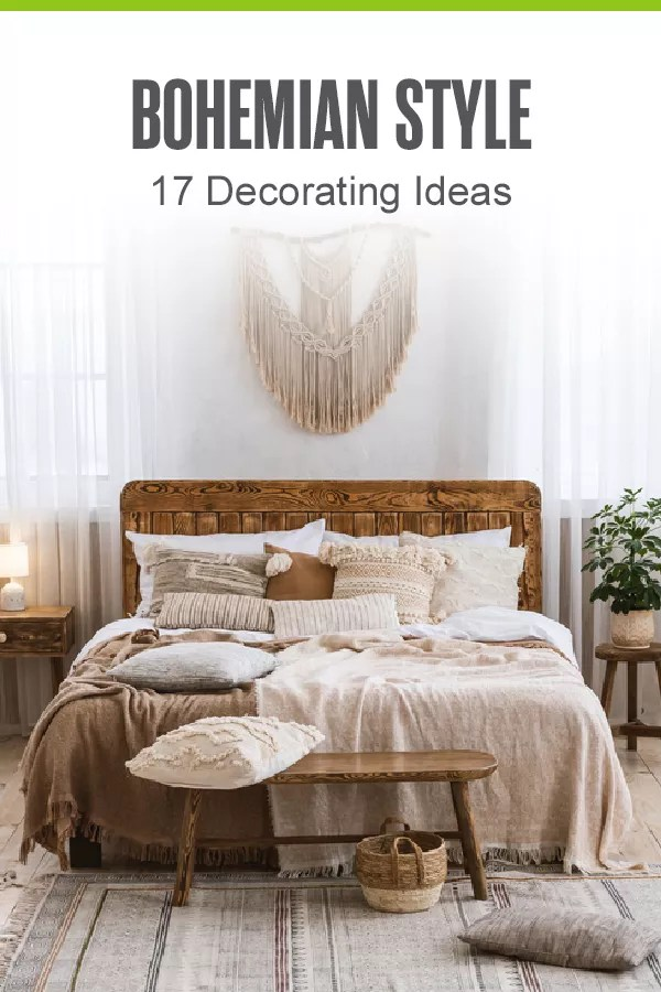 Pinterest Image: Bohemian Style: 17 Decorating Ideas: Extra Space Storage